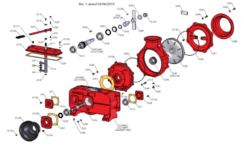 Pump Housing 45 Tooth Gear
