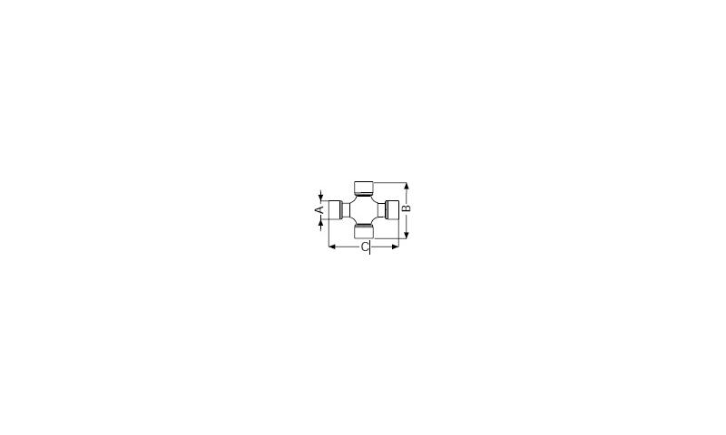 T80 Type WAJ PTO Cross Dia:35mm L:106.3mm x 113.8mm