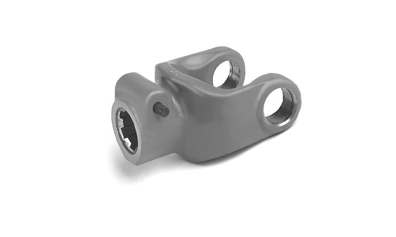 """T10 Type 1 3/8"""" 6 Spline QR Push Pin type Yoke End"""