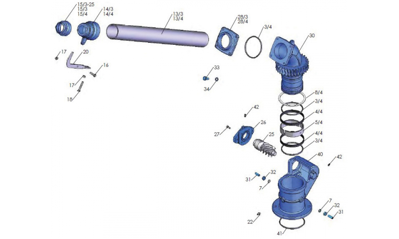 Rain Gun Spiral Gear Bracket (Hydraulic)