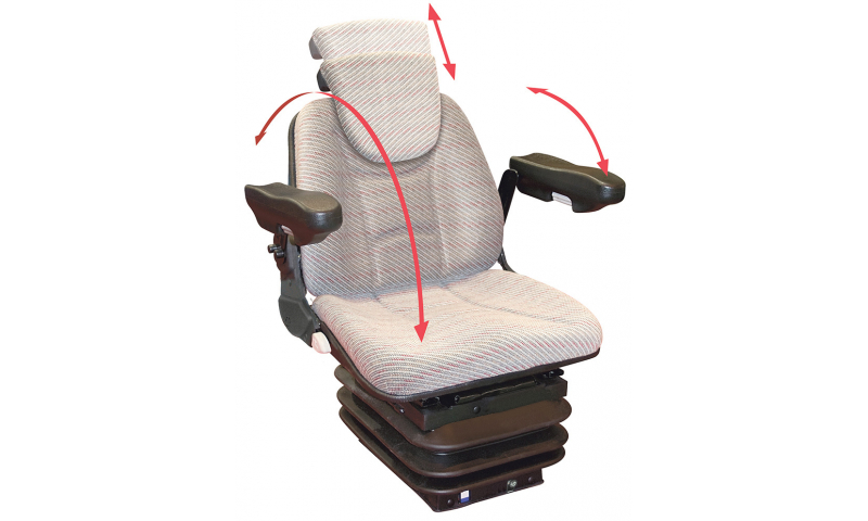 Tractor Seat with Air Suspension