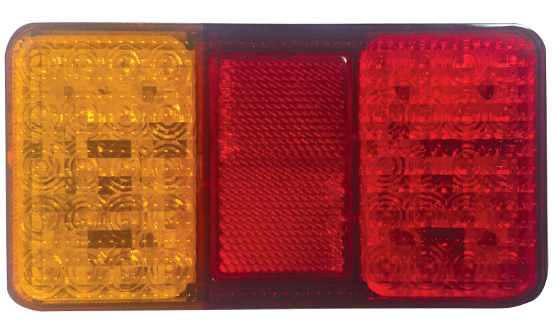 Red/Orange LED Lamp 150mm x 80mm x 26mm
