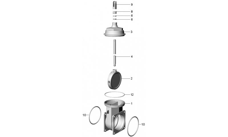 "6"" Heavy Duty Top Housing Cover for ART 5 valve"