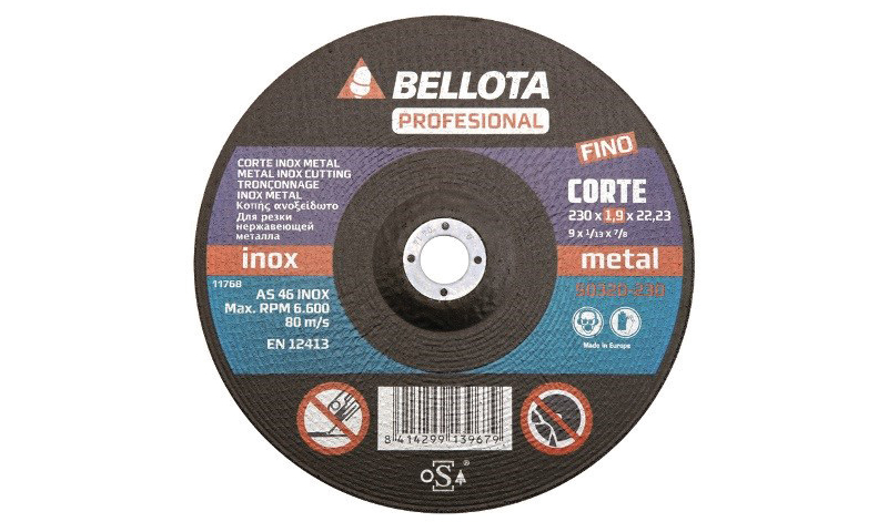 "Professional Extra Thin Cutting Disc 230mm (9"") 1.6mm"