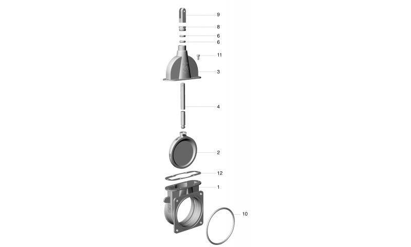 """6"""" Light Duty Shutter Housing ART 7 valve"""