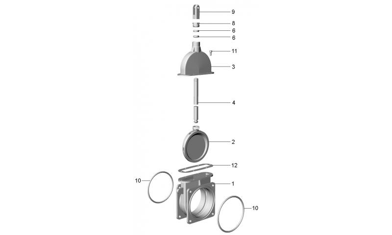 """6"""" Light Housing Double Flange ART 7 valve"""