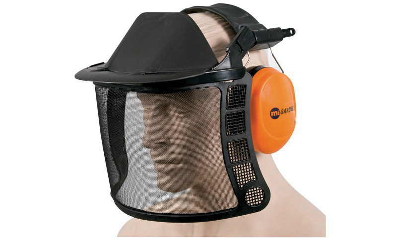 Faceshield Mesh Visor & Ear Muffs