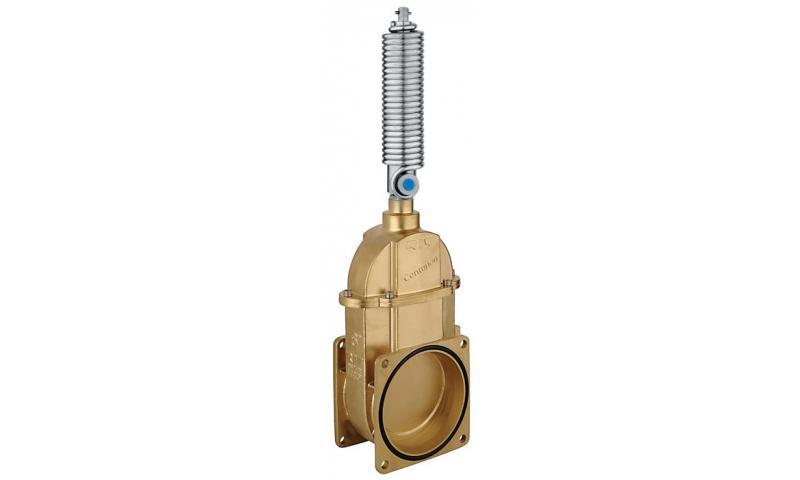 "RIV 6"" Double flange valve c/w ram & spring"