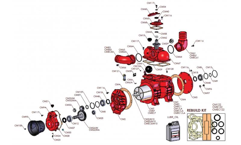 MEC 9000 Pump Rotor Housing