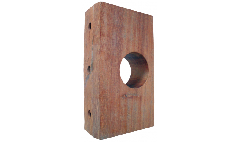 Timber Bearing Block 228mm x 125mm x 60mm 75mm Dia