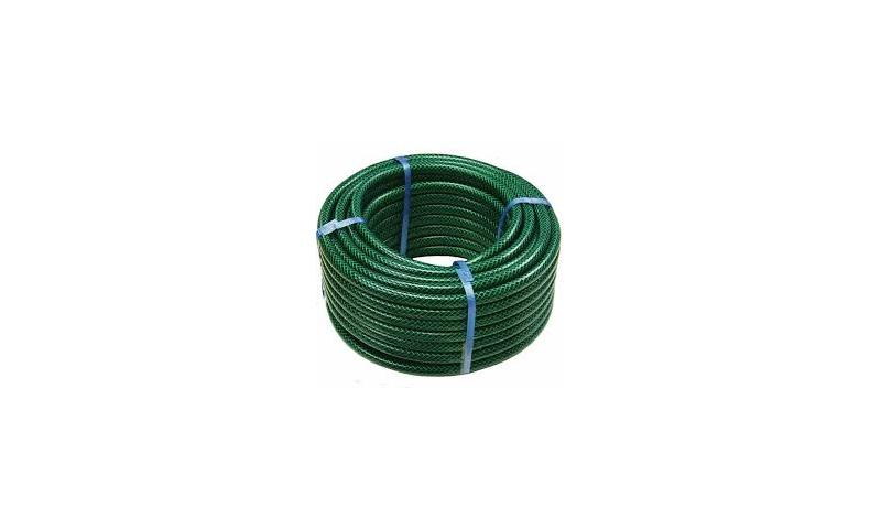 20MTR GREEN WATER HOSE REEL PVC-SLANG 8 BAR